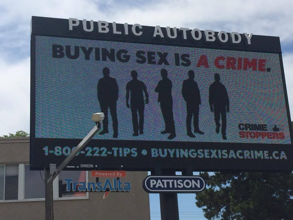 Buying Sex is a Crime Billboard